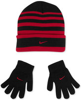 Nike Set, Boys or Little Boys Cold-Weather Snow Stripe Hat and Gloves