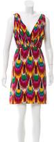 Alice + Olivia Sleeveless Abstract Print Dress
