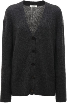 The Row V Neck Cashmere Knit Cardigan
