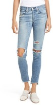 Rag & Bone Women's Ripped Step Hem Skinny Jeans