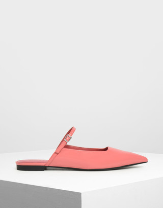 Charles & Keith Patent Mary Jane Mules
