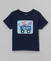Swag Navy Patriotic Wagon Personalized Tee - Toddler & Boys