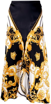 Versace Baroque Print Skirt