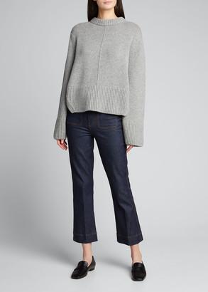 KHAITE Virginia Cashmere Split-Back Pullover
