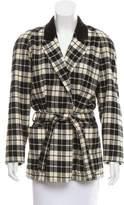 Kenzo Plaid Wool-Cashmere Blazer