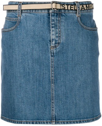 Stella McCartney Belted Denim Skirt