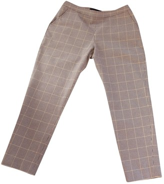 Vanessa Seward Beige Cotton Trousers for Women