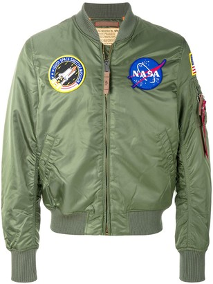 Alpha Industries badge bomber jacket