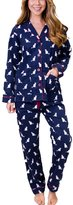 PJ Salvage Cats Flannel Pajama Set, S