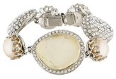 Isaac Mizrahi Crystal & Faux Pearl Link Bracelet