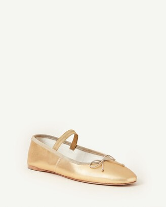 Loeffler Randall Leonie Soft Ballet Flat Champagne