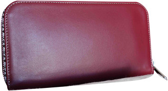 A.P.C. Burgundy Leather Wallets