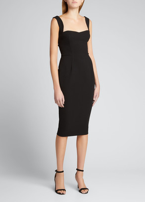 Victoria Beckham Fitted Crepe Sweetheart Dress