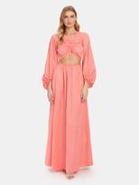 STAUD Tangier Front Cutout Maxi Dress