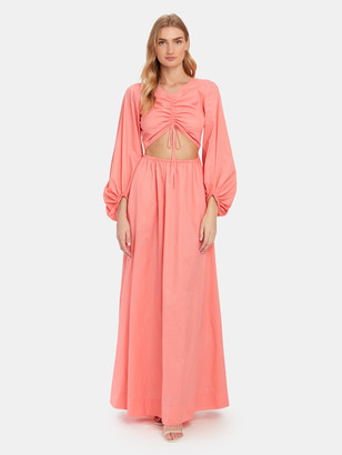 STAUD Tangier Front Cutout Maxi Dress