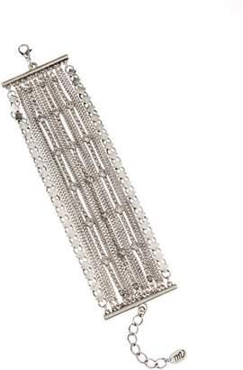 Mint Velvet Silver Chain Crystal Bracelet