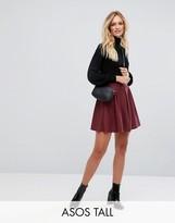 ASOS Tall ASOS TALL Mini Box Pleat Skater Skirt in Texture