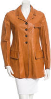 Jil Sander Notch-Lapel Leather Jacket