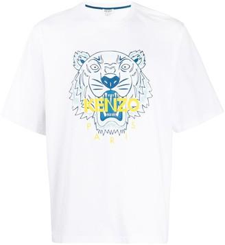 Kenzo Tiger motif print T-shirt