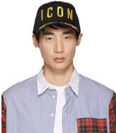 Dsquared2 Black and Gold Icon Baseball Cap