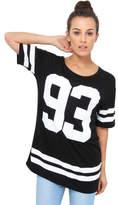 Clothing Women short-sleeved t-shirts Krisp 93' Print Baseball T-shirt Black 93' Print Baseball T-shirt Black