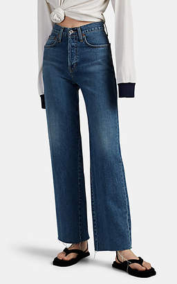 Solid & Striped x RE/DONE Women's The Beach Wide-Leg Cutoff Jeans - Blue
