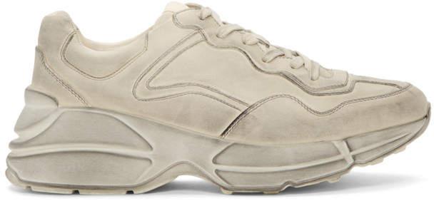 Gucci White Rhyton Sneakers