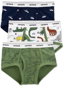 Carter's Boys 3-Pk. Cotton Dinosaur Briefs