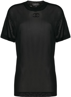Chanel Pre Owned 1993 CC mesh T-shirt