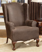 Sure Fit Stretch Faux Leather Wing Chair Slipcover Bedding