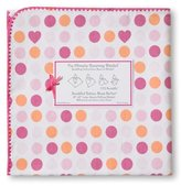 Swaddle Designs Ultimate Receiving Blanket, Dots and Hearts, Fuchsia