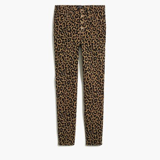 """J.Crew Leopard 9"""" high-rise skinny jean with button fly"""