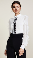 Giambattista Valli Camicia Lace Detail Blouse