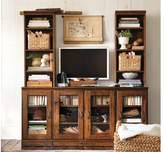 Pottery Barn Glass Door Media Suite with Towers