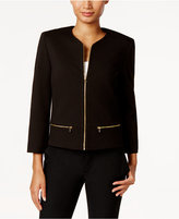 Nine West Ponte Zip-Front Jacket