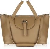 Meli-Melo Light Tan Leather Thela Medium Tote Bag