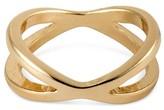 Women's Cross Over Ring - Gold