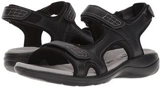 Clarks Saylie Jade (Black Tumbled Leather) Women's Sandals