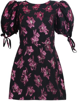 The Vampire's Wife The Wrapsody Black And Fuchsia Mini Dress