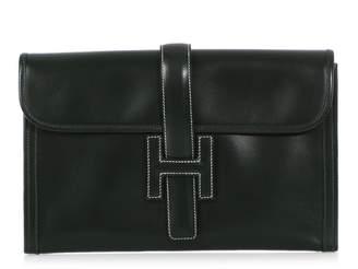 Hermes Jige Green Leather Clutch bags