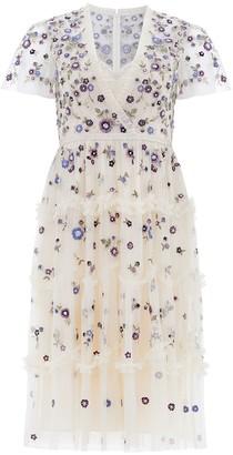 Needle & Thread Prairie Flora embroidered tulle dress