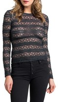 LAmade Banded Lace Long Sleeve Top