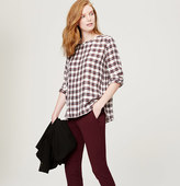 LOFT Autumn Plaid Blouse