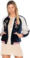Free People Floral Embroidered Bomber