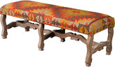 AA Importing Penny 59 Nail-Head Bench, Kilim