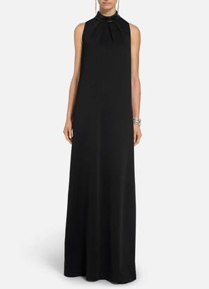 St. John Liquid Milano Knit Mock Neck Gown