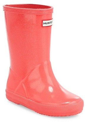 Hunter Kid's Glitter Rain Boots