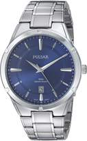 Pulsar Men's Quartz Stainless Steel Casual Watch, Color:Silver-Toned (Model: PS9521)