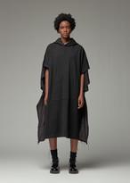 Yohji Yamamoto Y's By Y's by Women's Hooded Poncho Dress in Black Size 2 100% Cotton