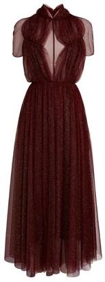 Emilia Wickstead Glitter-Embellished Gabriel Dress
